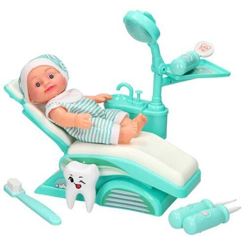 lutka i zubarska stolica sa dodacima dental