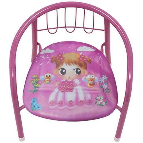 metalna stolica za decu sa slikom devojcice