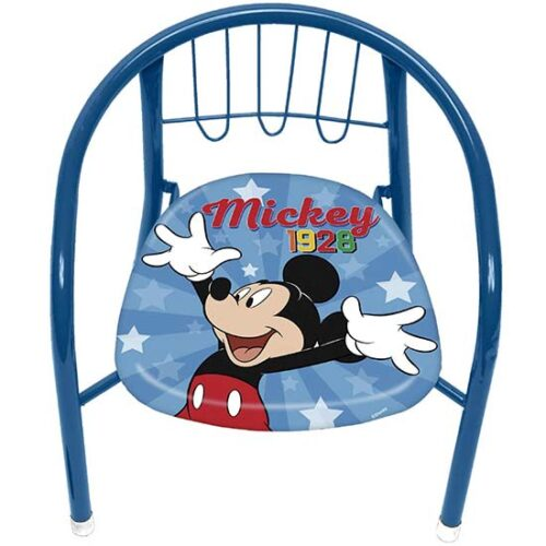 plava stolica za decu sa miki mausom