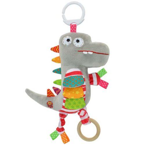 plisana igracka sivi dinosaurus
