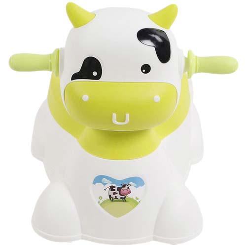 zeleno bela nosa u obliku kravice