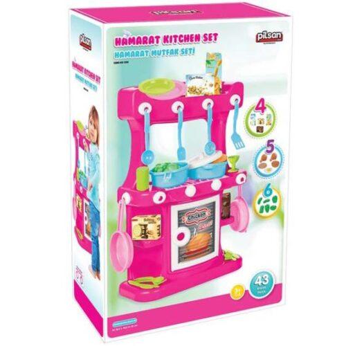 kuhinja za igru dece roze boje pilsan