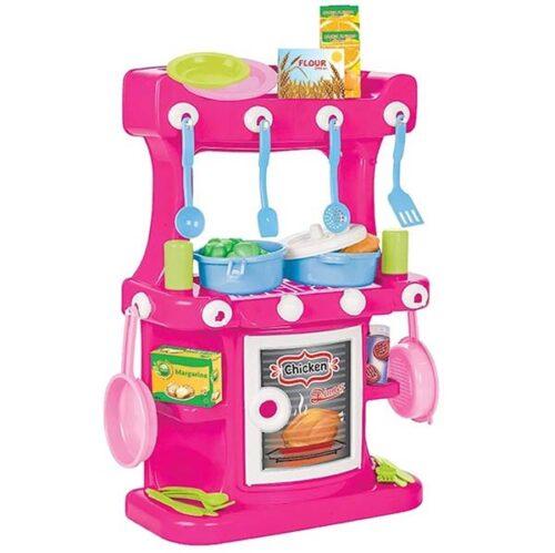 plasticna roze kuhinja za igru devojcica pilsan