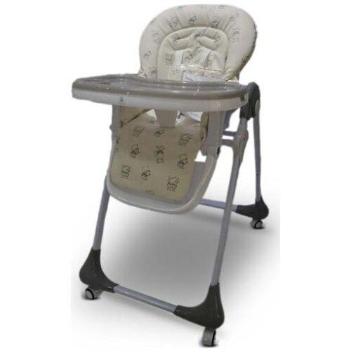 visepolozajna siva stolica za hranjenje bianco