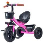deciji tricikl sa metalnom gradjom roze boje