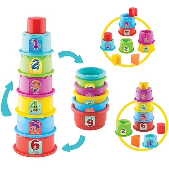 kula za bebe sa sarenim elementima dede