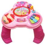 edukativni sto za bebe roze boje jolly