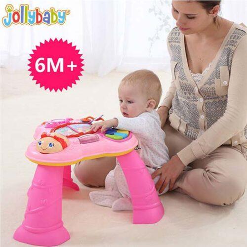 majka i dete se igraju sa edukativnim stolom jolly