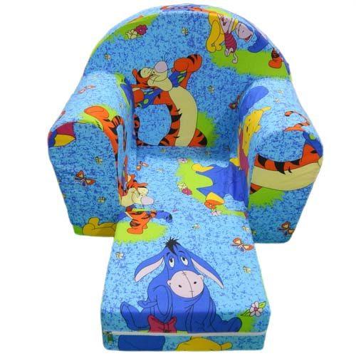 foteljica za decu vini pu plave boje