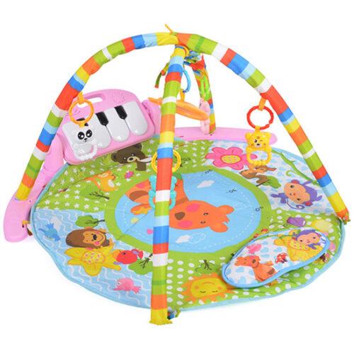sarena podloga za igru bebe pink