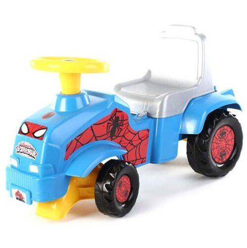 plava guralica za decu traktor spiderman