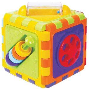 sarena plasticna kocka za edukaciju bebe mgs