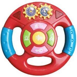 crvena muzicka igracka za bebe volan