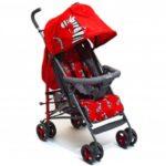 crvena letnja kolica za bebe zebra