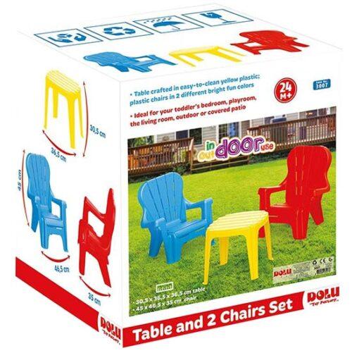 2 decije stolice i sto dolu