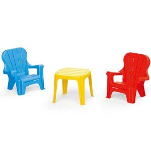 plasticni set dve stolice i sto dolu