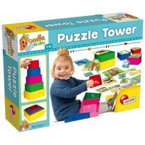 devojcica se igra sa tornjem lisciani