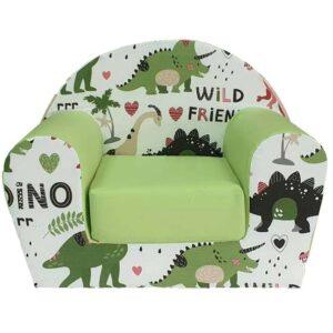 zeleno bela foteljica za decu dinosaurus trax