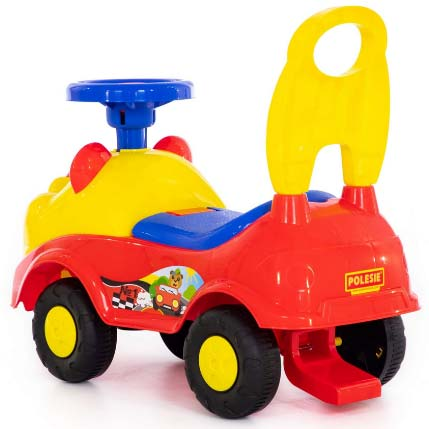 zuto crvena guralica auto teddy