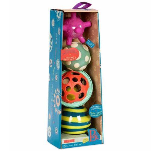 cetiri gumene lopte u pakovanju infantini