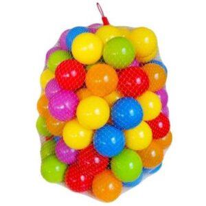 50 sarenih plasticnih loptica za bebe