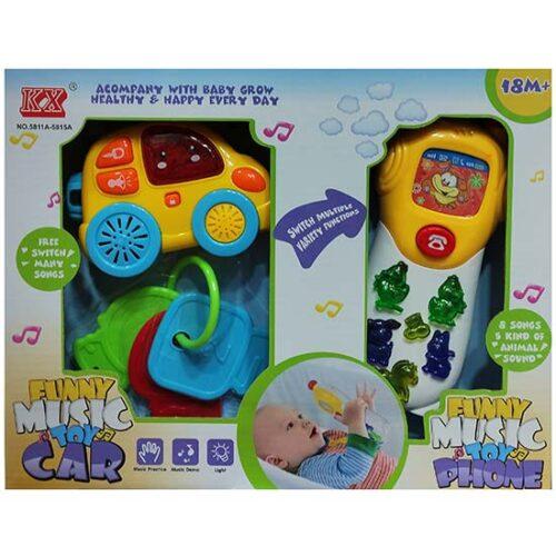 muzicke igracke za bebe auto i telefon