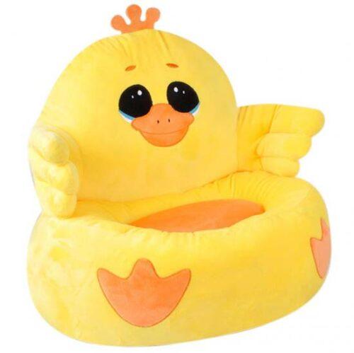 zuta sundjerasta fotelja za decu patka