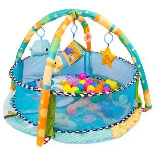 plavi bazen za bebe i gimnastika dots
