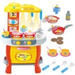 decija plasticna zuta kuhinja za decu yellow