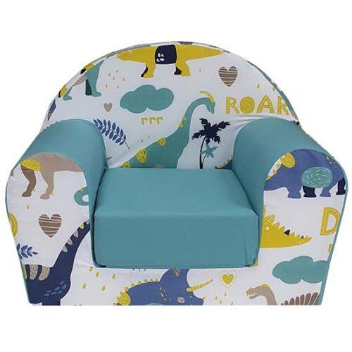 foteljica za decu sa dinosaurusima