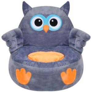 siva fotelja za decu sova