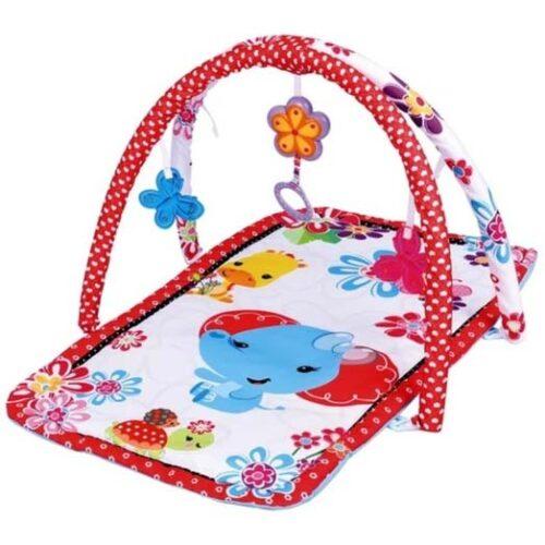 crveno bela podloga za igru beba slonce