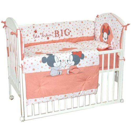 posteljina za krevetac mini maus