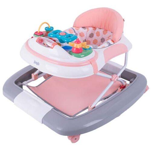 sivo roze setalica za bebe kliklak