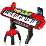 klavijatura sa stolicom za decu red&black