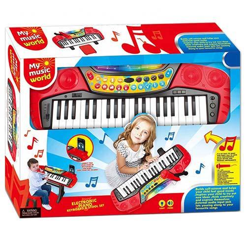 klavijatura sa stolicom za decu