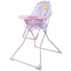belo roze stolica za hranjenje bebe bubble