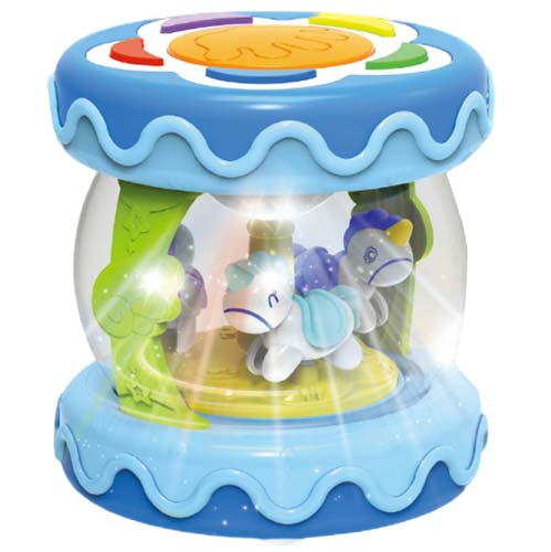 plava muzicka igracka huanger bubanj