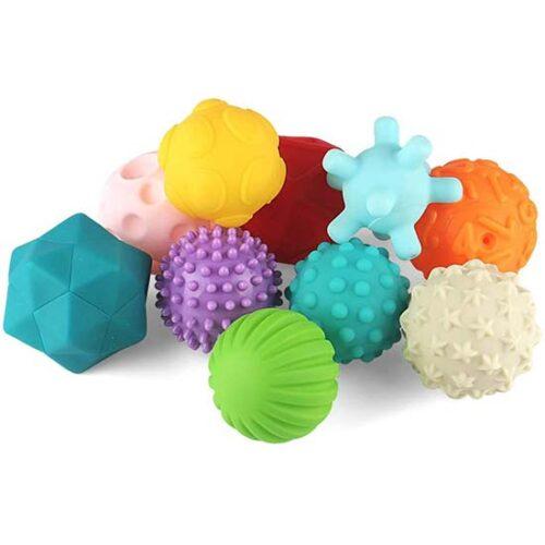 set od 10 loptica za bebe smart