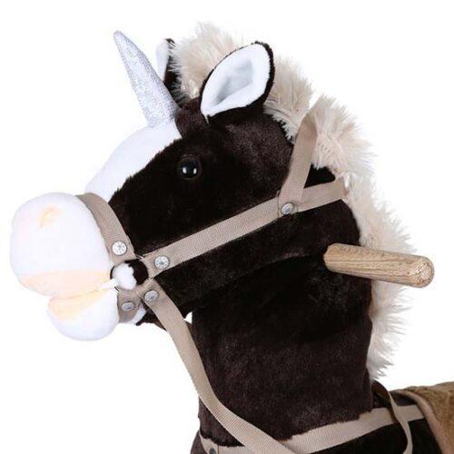 konjic za klackanje braon boje