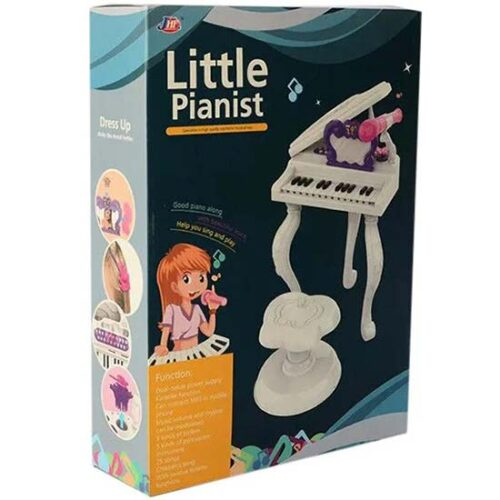 plasticni beli klavir little piano