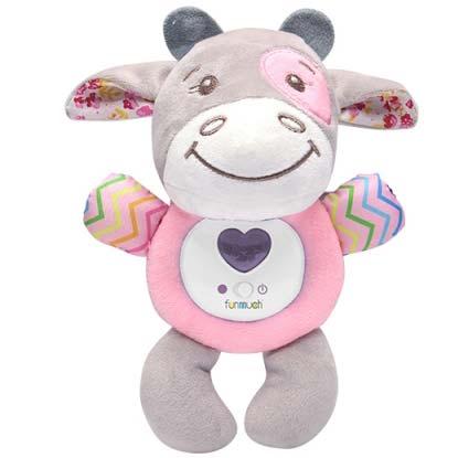muzicka plisana kravica za bebe
