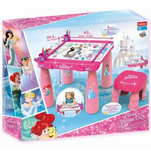roze sto i stolica za crtanje princess
