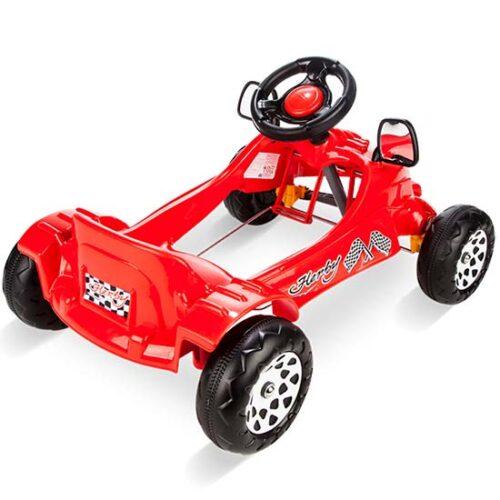 auto na pedale crvene boje