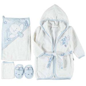 plavo beli bademantil za bebe
