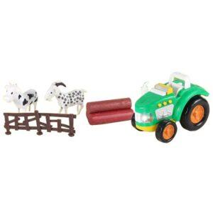 zeleni traktor i zivotinje
