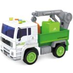 zeleno beli kamion sa kranom city