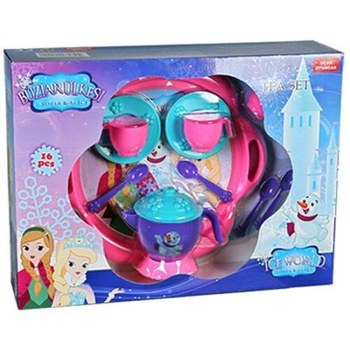plasticna igracka set za caj roze boje