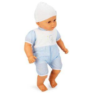 plavo bela velika lutka 60 cm