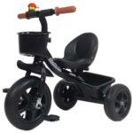 crni metalni tricikl za decu